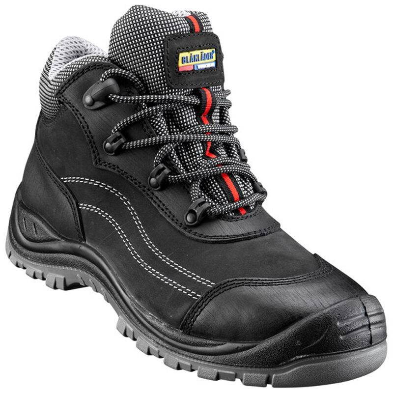 BLAKLADER Chaussures de sécurité mi-hautes Cuir Nubuck S3 Noir 38 - Blaklader