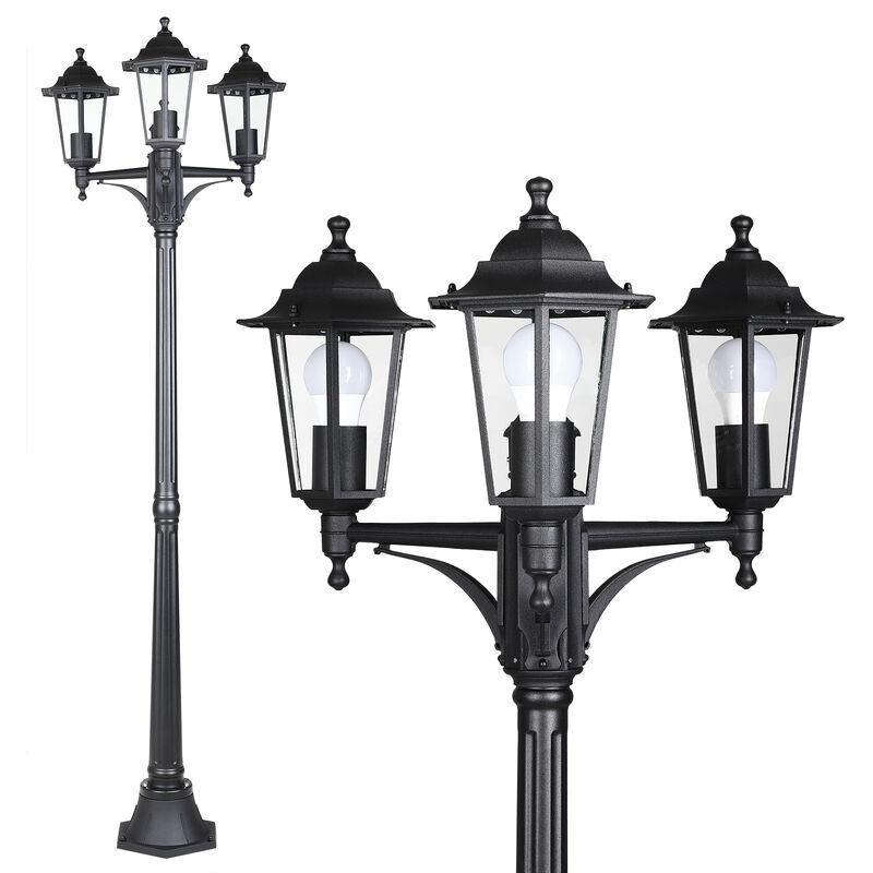 Deuba - Lampe d'extérieur 'Willow' alu candélabre luminaire de jardin chemin allées