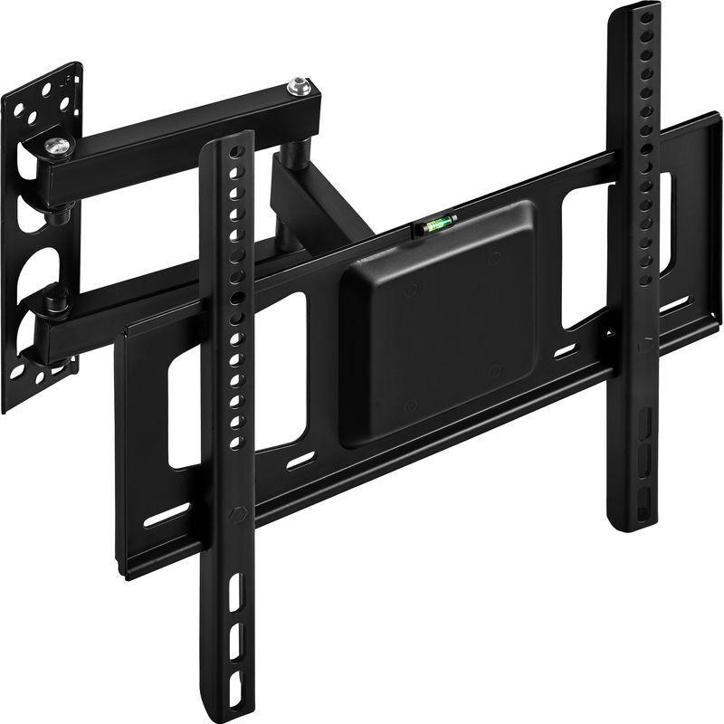 Tectake - Support TV Mural pour Ecran Plat 26' à 55' VESA 200 x 100 à 400 x 400 Réglable Inclinable Orientable Noir
