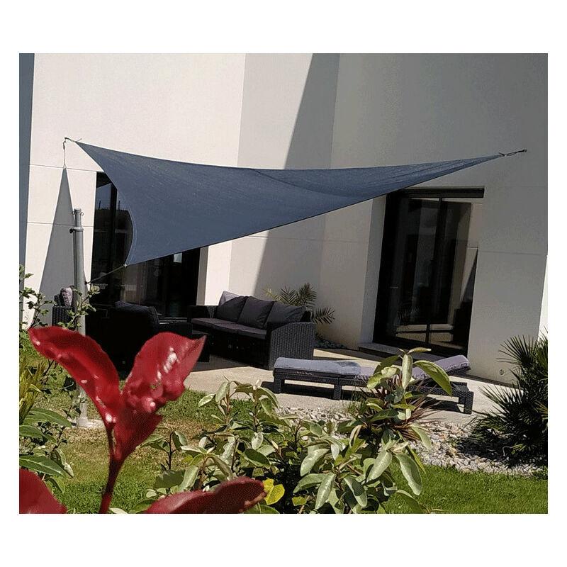 Direct Filet - Voile d'ombrage perméable de 3.8x3.8x3.8m format triangle à tendre   Terracotta