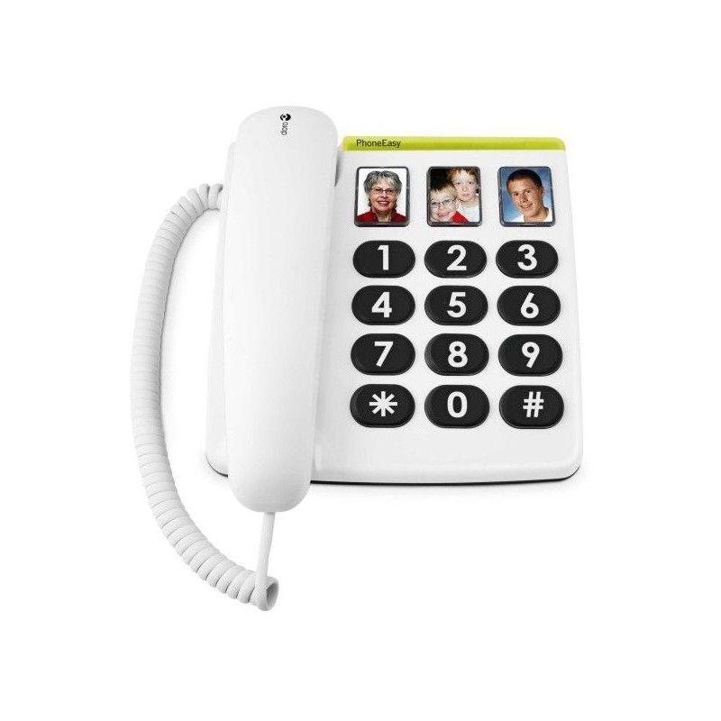Doro Téléphone fixe 331 ph PHONEEASY - Blanc - Doro