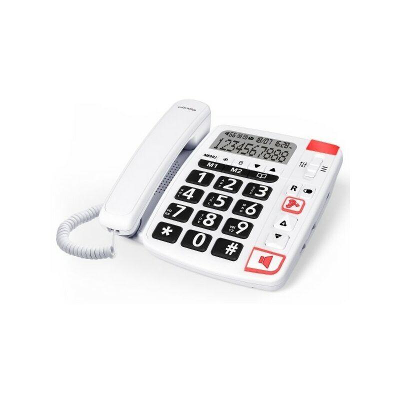 Swissvoice Téléphone fixe filaire Senior Xtra 1150 Blanc - Blanc - Swissvoice