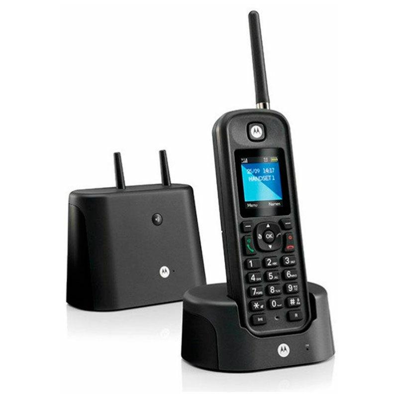Motorola o201 black long range rugged cordless phone