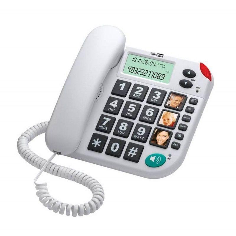 MAXCOM Téléphone senior KXT 480 blanc - Blanc