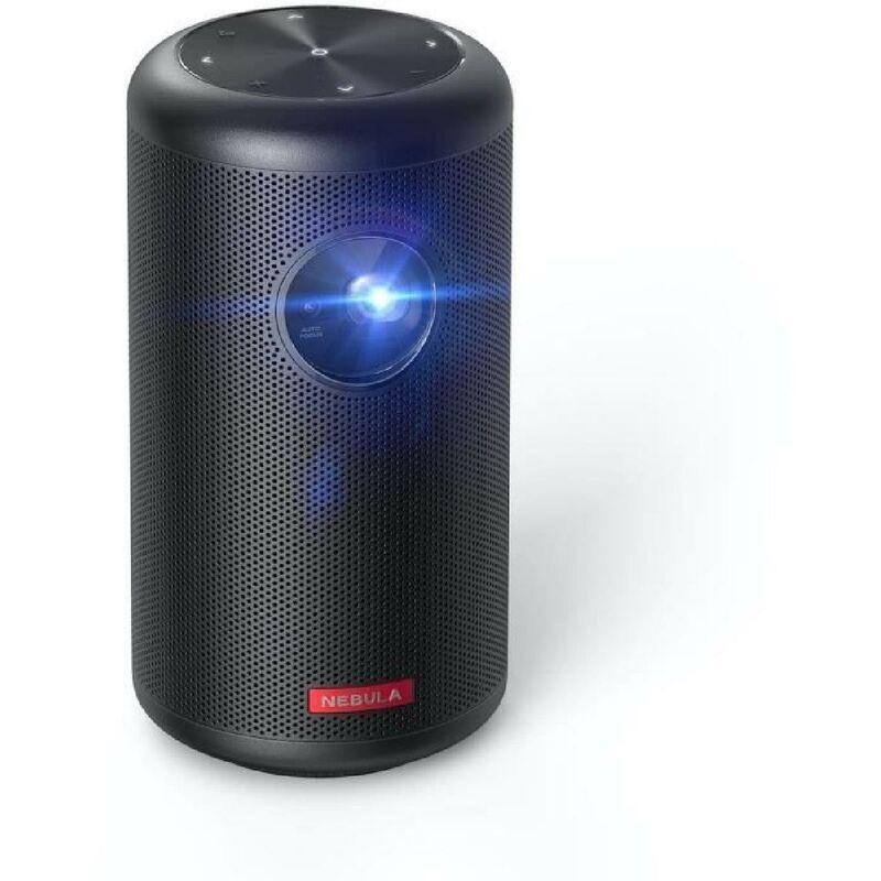 Anker Nebula Capsule II - Vidéoprojecteur portable HD (1280x720) - 200 Ansi Lumens - 8W - Android TV - Google Assistant - Noir - Anker
