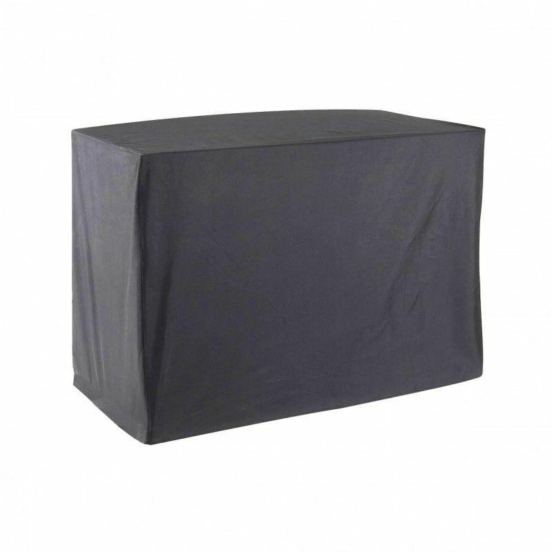 GREENCLUB Housse De Protection pour chariot plancha Haute Qualité polyester L 120 x l 60 x h 90 cm couleur anthracite - Anthracite