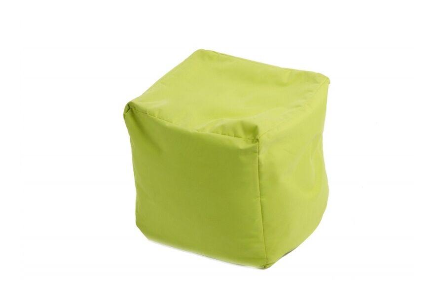JUMBO BAG Pouf Cube repose-pieds Vert anis - Jumbo Bag