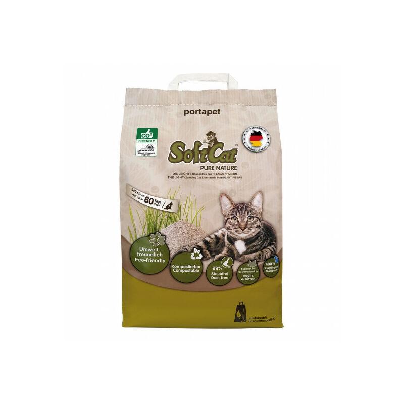 SCHULZE Litière végétale agglomérante Softcat pour chat sac de 17 litres