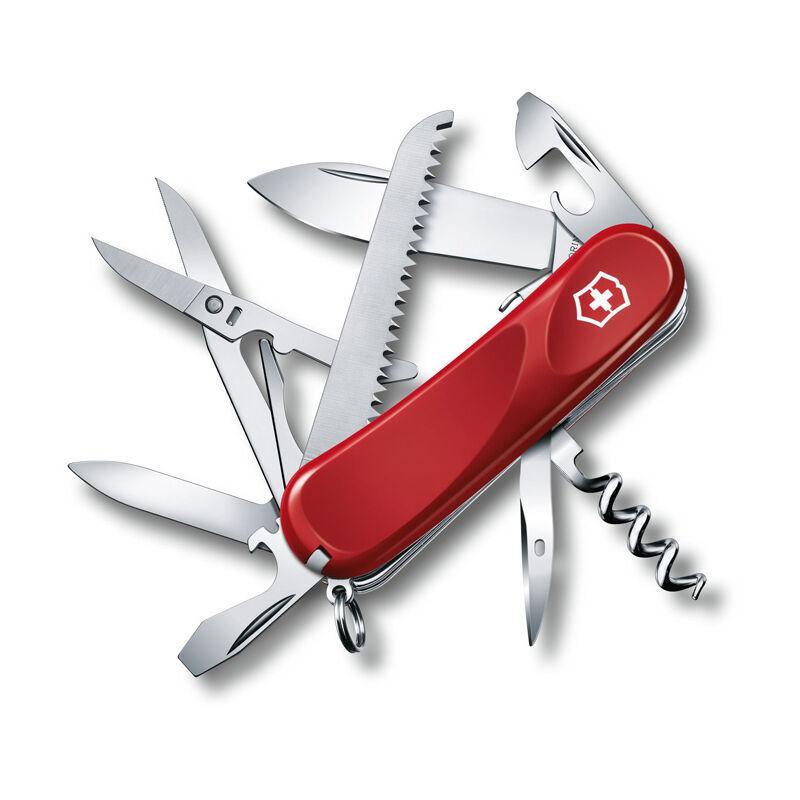 Victorinox Couteau suisse de poche Victorinox Evolution 17 2.3913.SE avec 15 fonctions dont ciseaux et lime à ongles et tournevis - lame verrouillable.