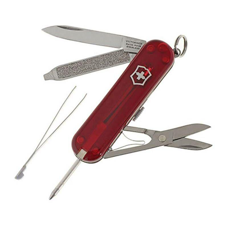 Victorinox Signature Rubin 0.6225.T Couteau suisse Nombre de fonctions 7 rouge (transparent) W96148
