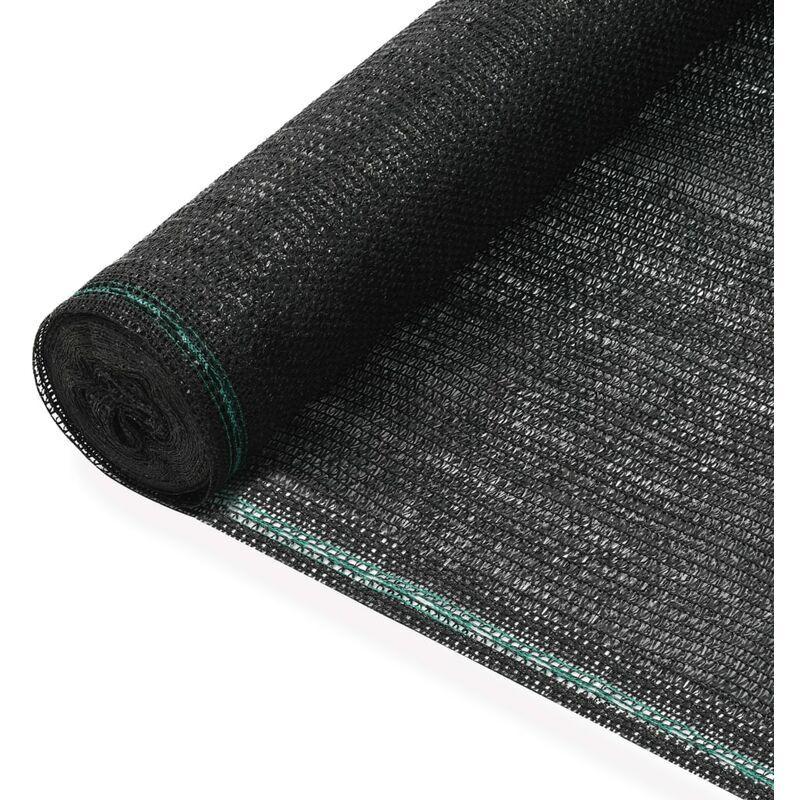 VIDAXL Clôture de Tennis PEHD Noir 1,6x50 m