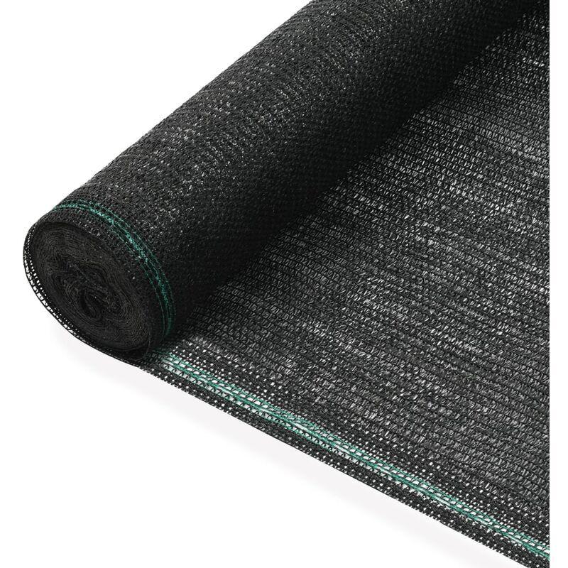 VIDAXL Clôture de Tennis PEHD Noir 1,8x100 m