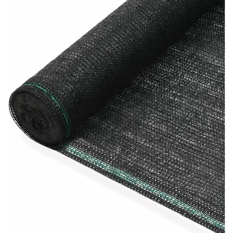 VIDAXL Clôture de Tennis PEHD Noir 1,8x25 m