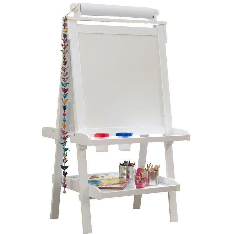 Kidkraft - Chevalet de dessin en bois tableau et ardoise - Blanc