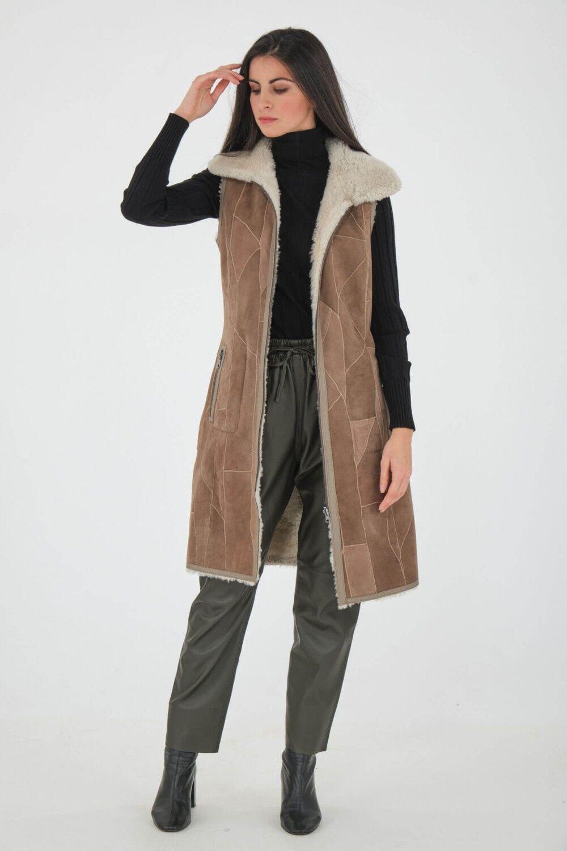 Oakwood Pantalon en cuir - GIFT Kaki 42/XL Kaki foncé