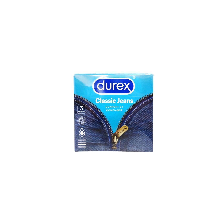 Durex Préservatifs Classic Jeans Boîte de 3