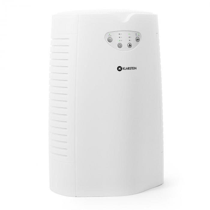 Klarstein Vita Pure Purificateur d'air ioniseur filtre charbon actif 35W - blanc