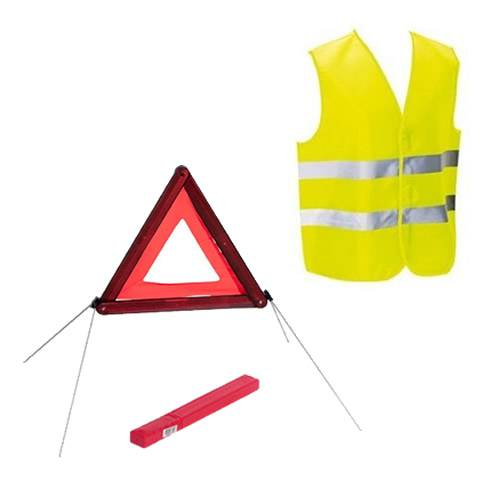SecuriteGoodDeal Kit sécurité voiture homologué gilet et triangle de signalisation