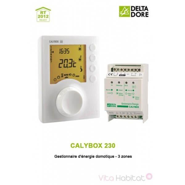 DELTA DORE CALYBOX 230 - Gestionnaire d'énergie domotique - 3 zones - DELTA DORE 6050392