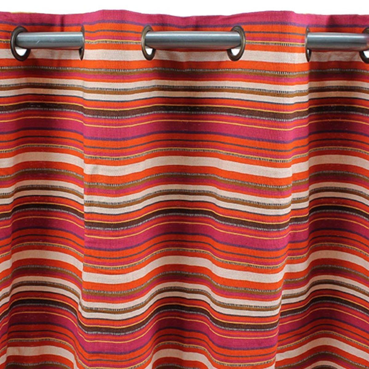 TheDecoFactory MAROC - Rideau en coton tissé rouge 150x250 Rouge