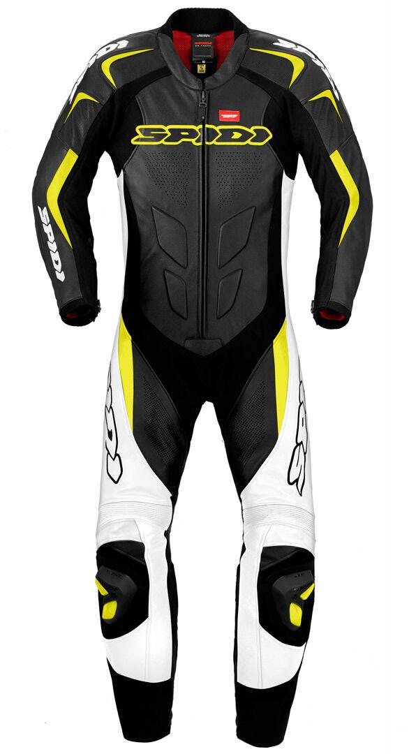 Spidi Supersport Wind Pro Combinaison de cuir de moto One Piece Noir Jaune taille : 48