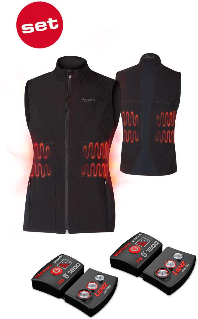 Lenz Lithium Pack rcB 1800 Bluetooth + 1.0 Ladies Heatable Vest Veste chauffante dames Noir taille : XS