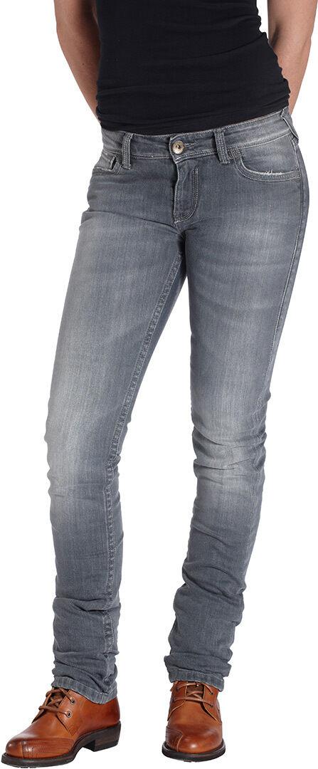 Rokker The Donna Grey Ladies Motorcycle Jeans Jeans de moto de dames Gris taille : 3XL