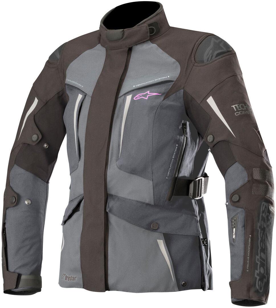 Alpinestars Stella Yaguara Drystar Tech Air Veste de dames moto Textile Noir Gris taille : S