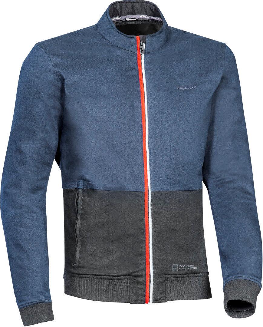 Ixon Fulham Veste textile de moto Noir Bleu taille : L