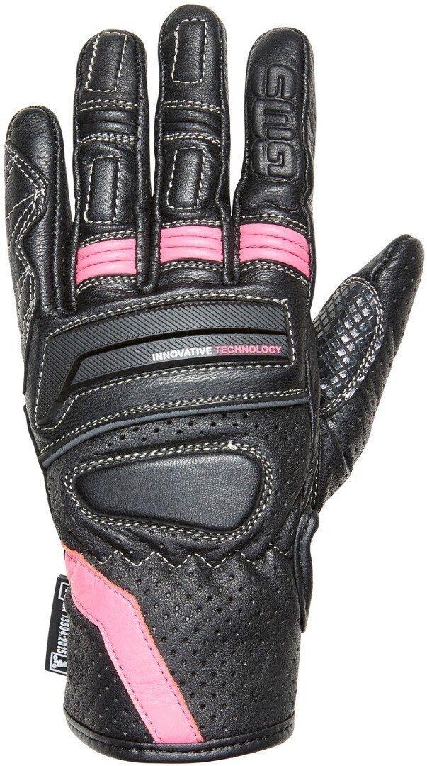 GMS Navigator Gants de moto de dames Noir Rose taille : S