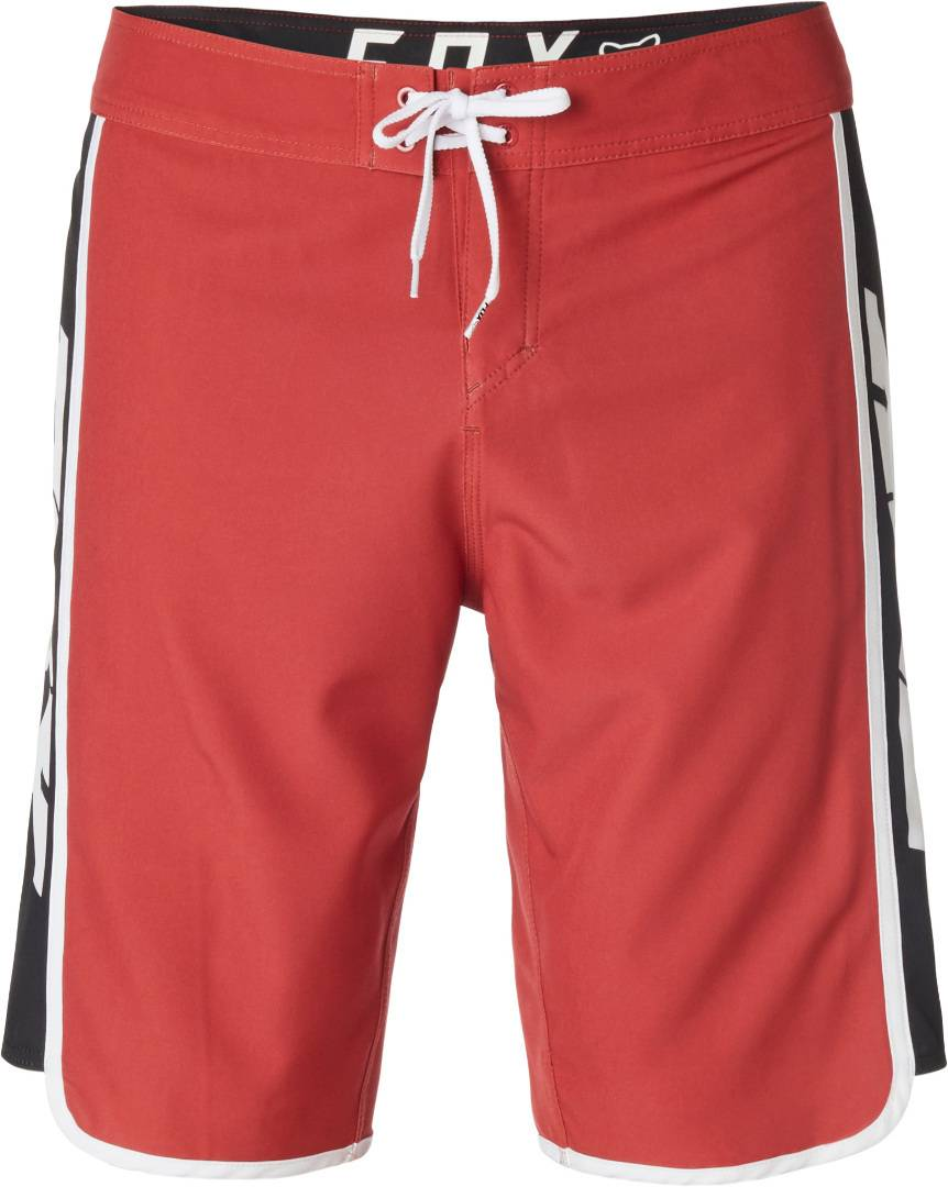 FOX Race Team Stretch Boardshorts Shorts de bain Rouge taille : 34
