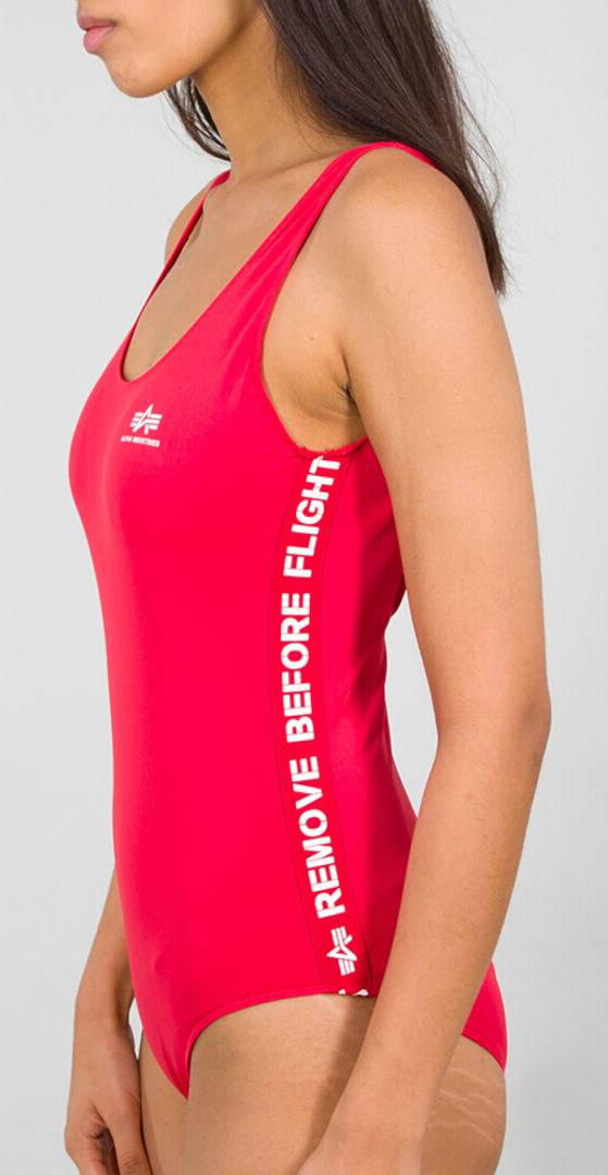 Alpha Industries RBF Tape Maillot de bain dames Rouge taille : S