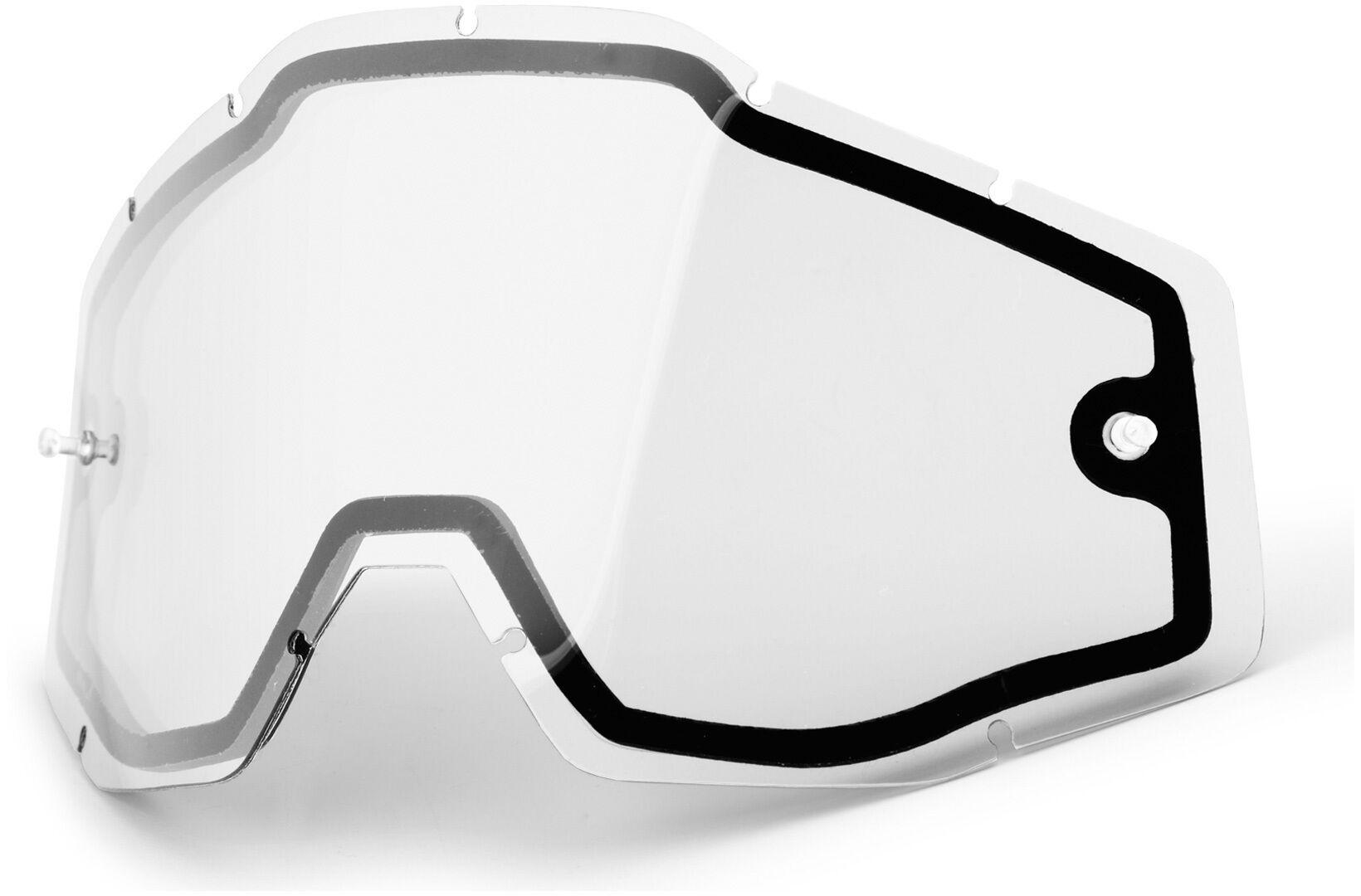 100% Enduro Dual Lentille de remplacement transparent taille : unique taille