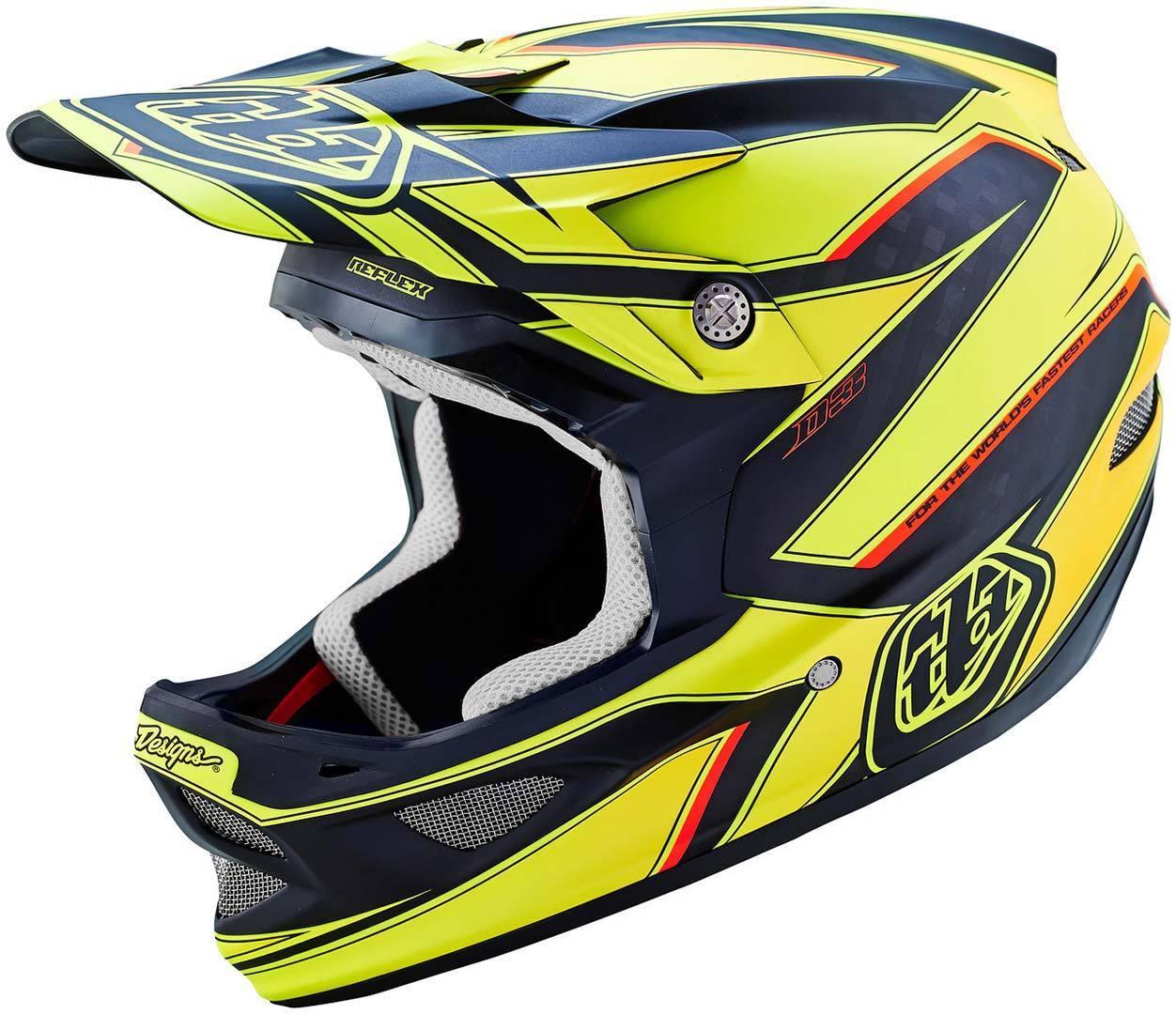Troy Lee Designs D3 Reflex Yellow Helmet Casque Noir Jaune taille : M