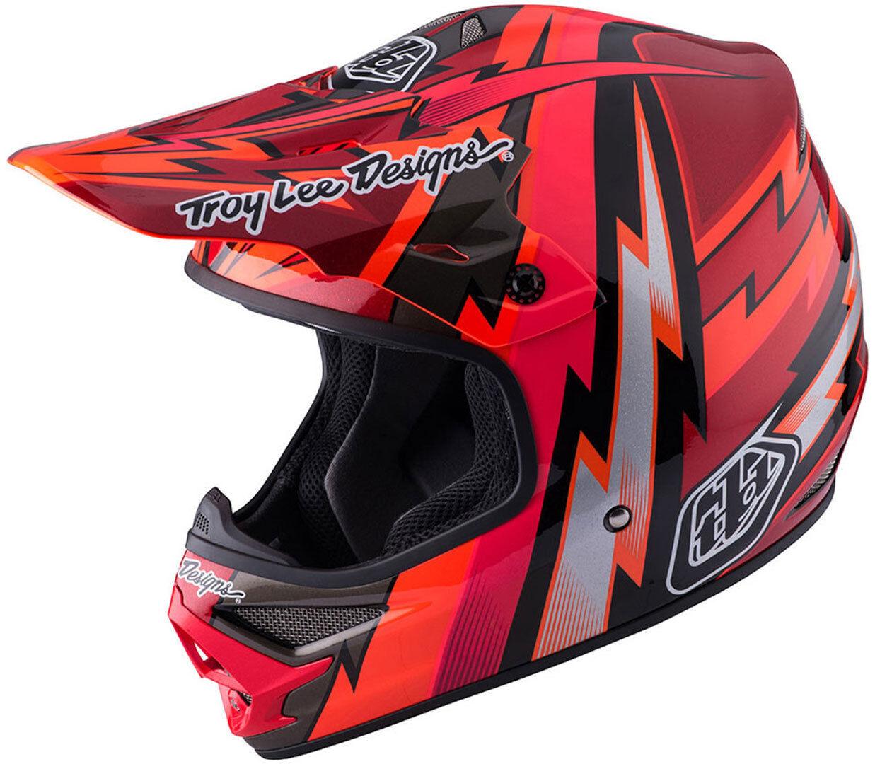 Troy Lee Designs Air Beams Motorcycle Cross Helmet Casque de croix de moto Rouge taille : L