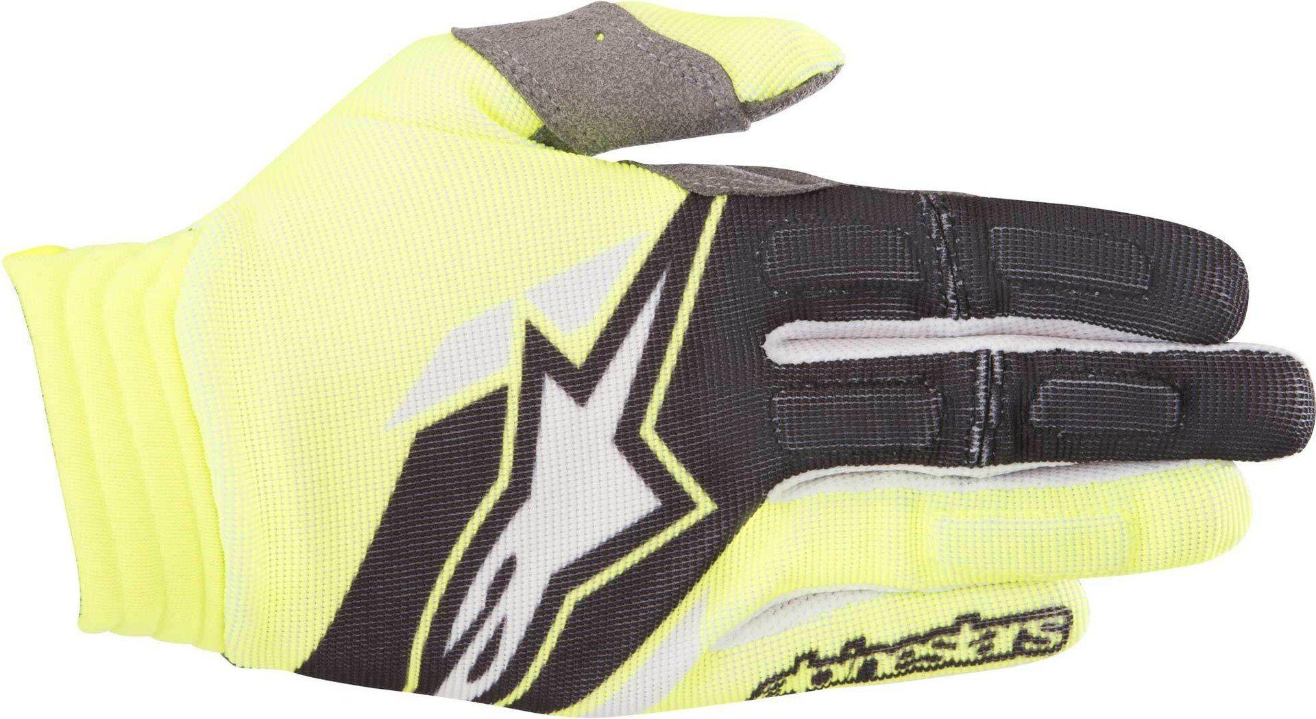 Alpinestars Aviator Gloves 2018 Gants Noir Jaune taille : 2XL