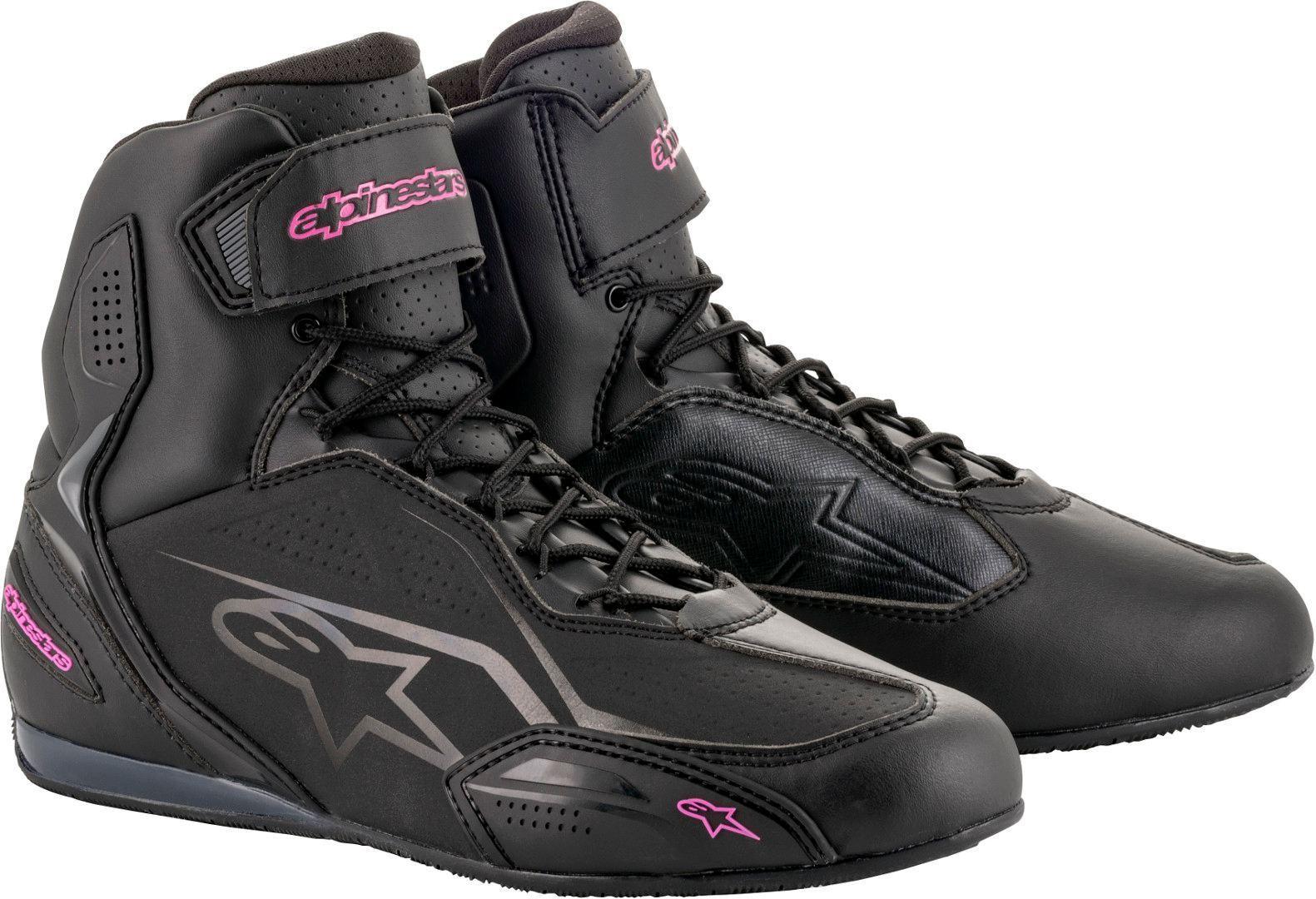 Alpinestars Stella Faster-3 Chaussures de moto de dames Noir Rose taille : 39 40