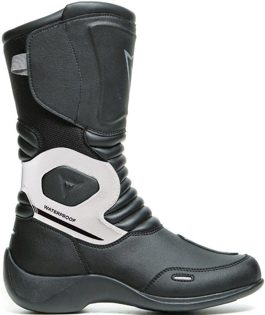 Dainese Aurora Lady D-WP bottes de moto imperméables pour dames Noir Blanc taille : 36