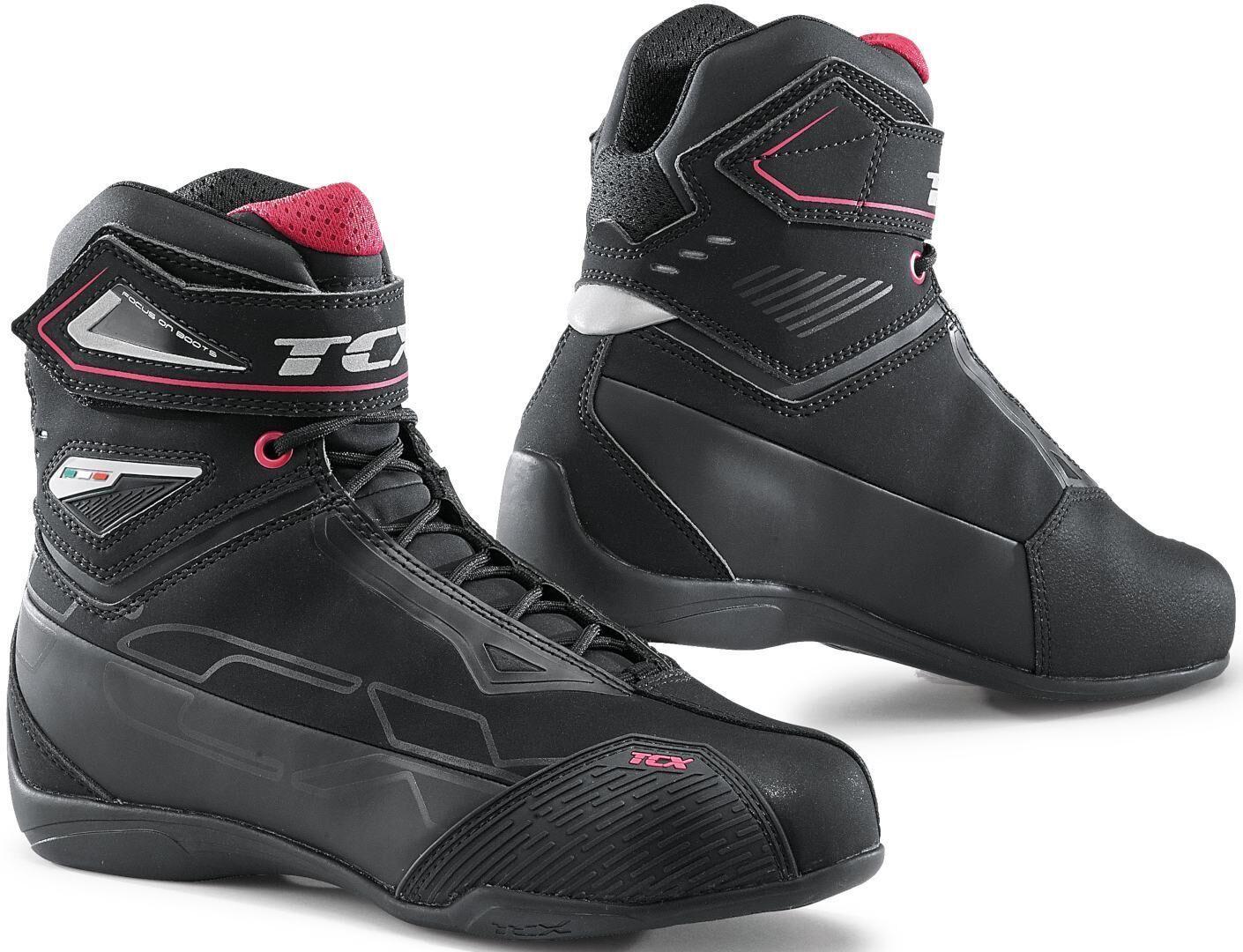TCX Rush 2 Chaussures de moto pour dames imperméables Noir Rose taille : 35