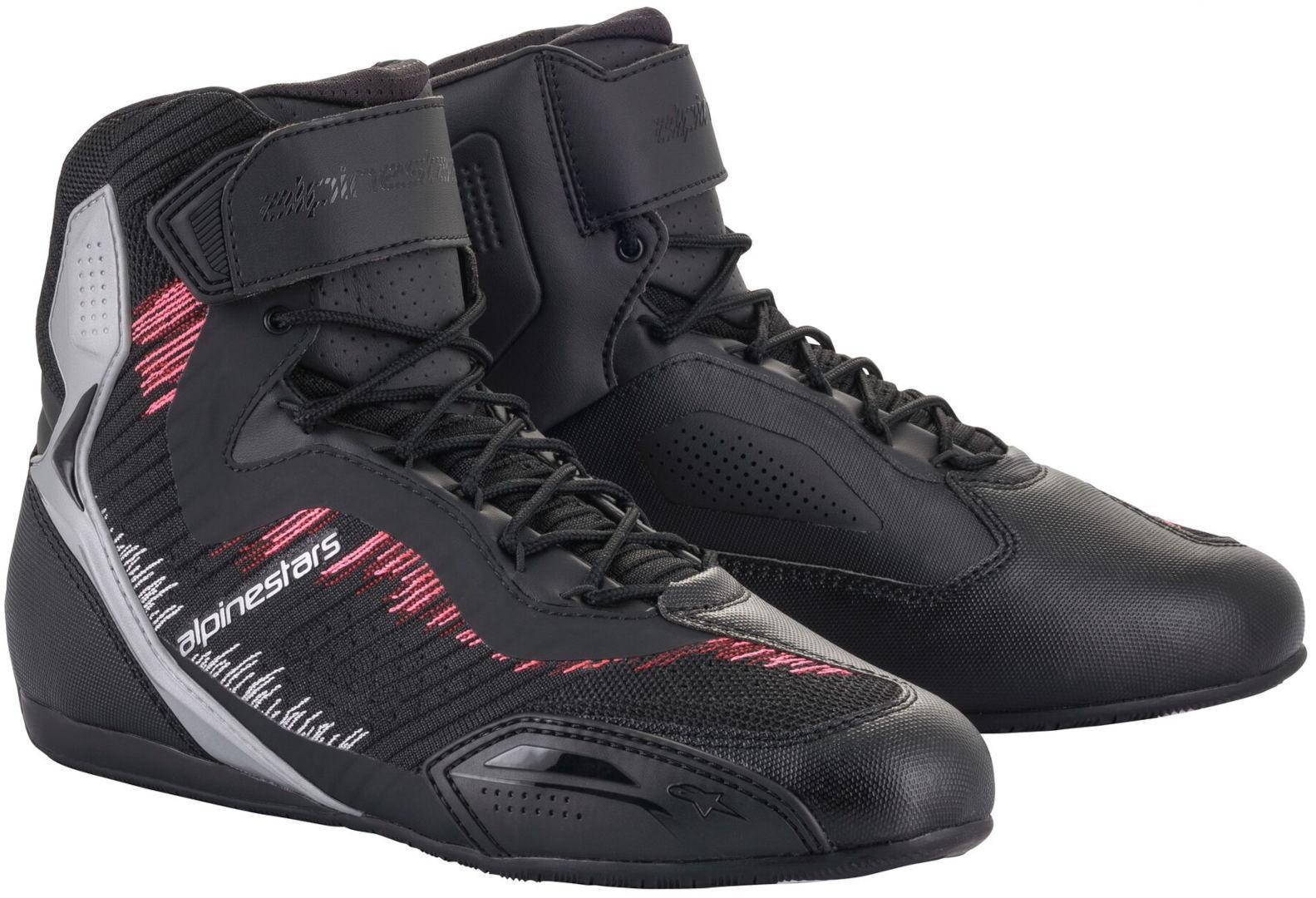 Alpinestars Stella Faster-3 Rideknit Chaussures de moto dames Noir Gris Rose taille : 38 39