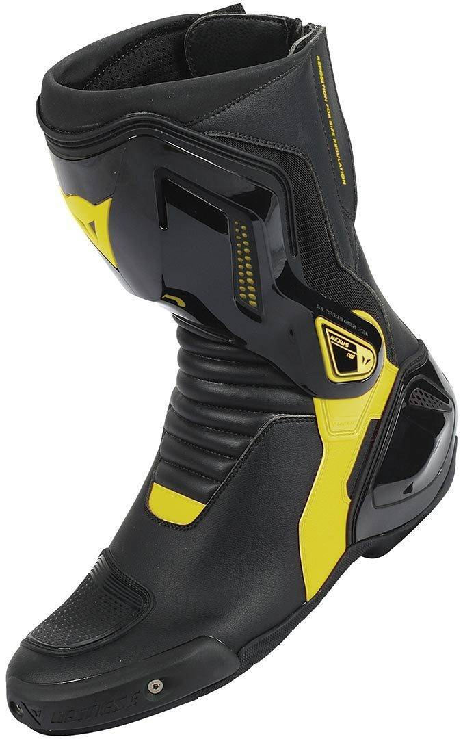 Dainese Nexus Bottes de moto Noir Jaune taille : 46