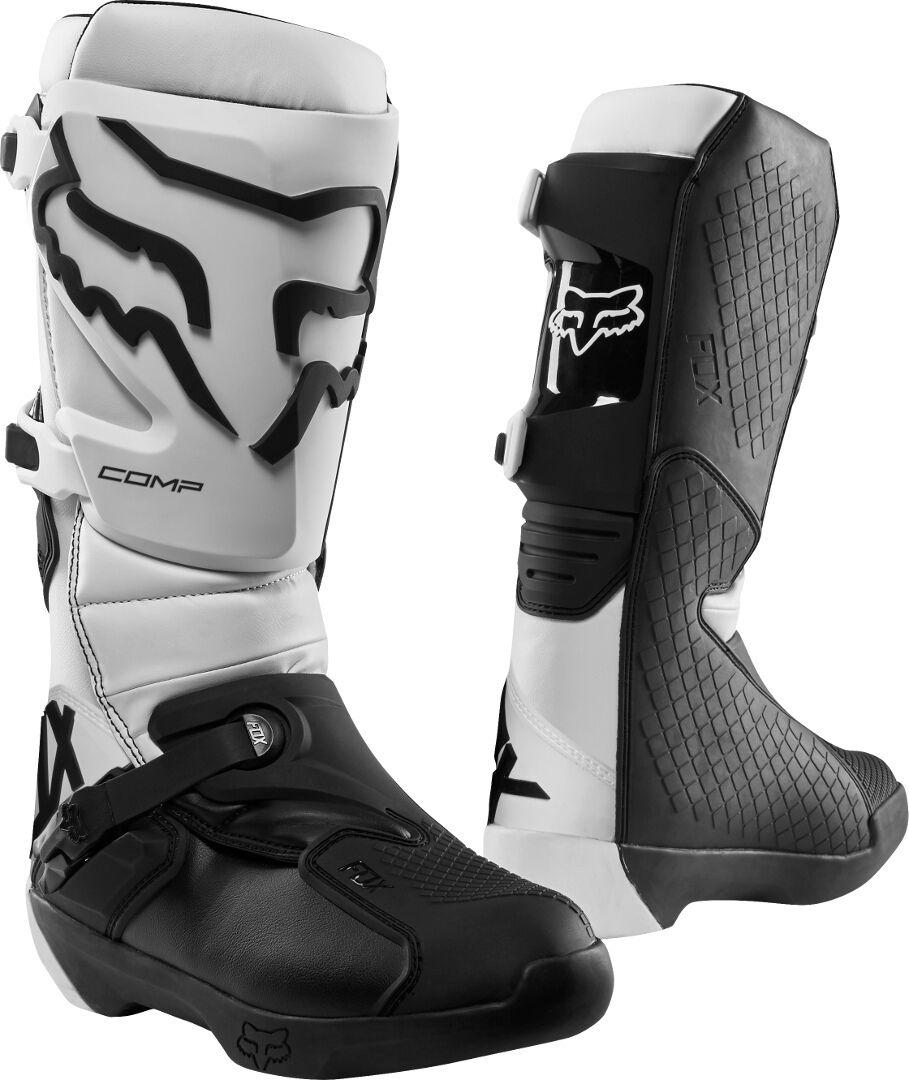 FOX Comp Bottes de motocross Blanc taille : 45