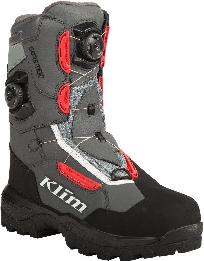 Klim Adrenaline Pro GTX Boa Bottes Noir Gris Rouge taille : 45