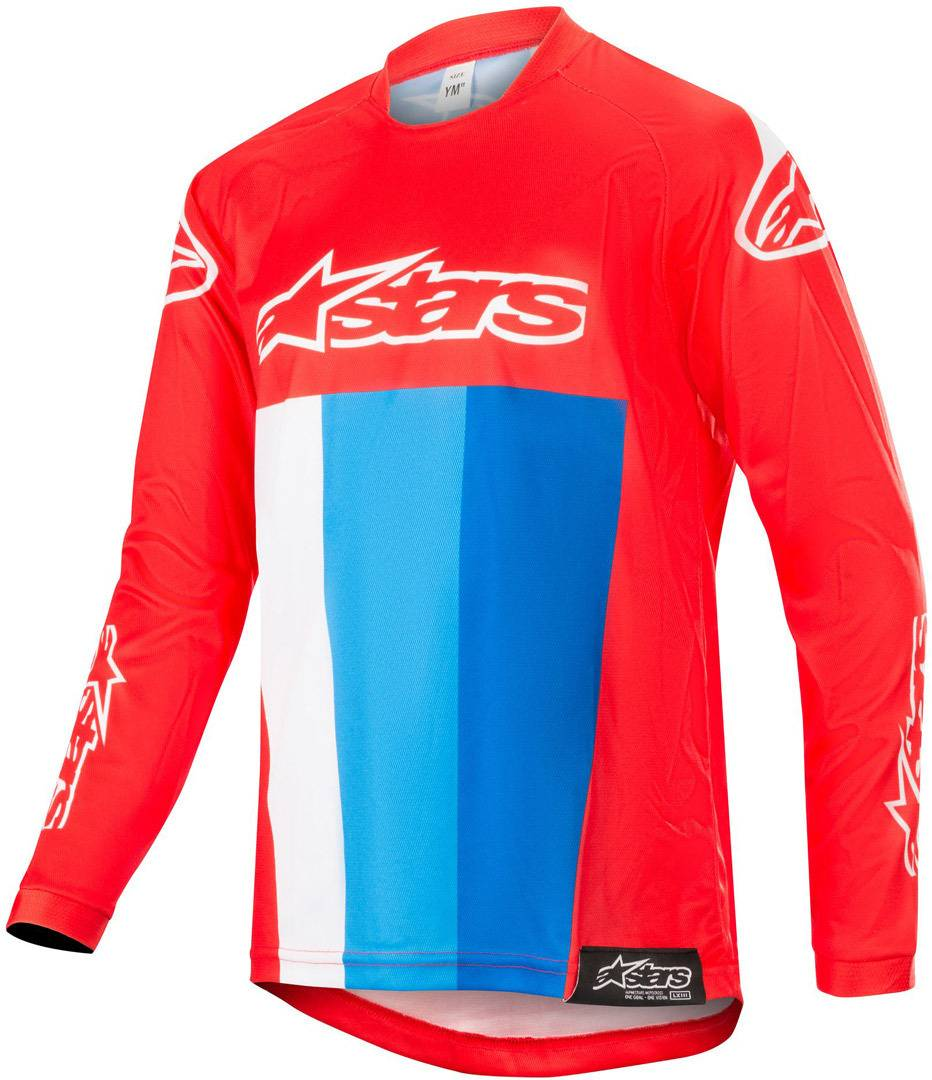 Alpinestars Racer Venom Motocross Maillot Jeunesse 2018 Blanc Rouge Bleu taille : XL