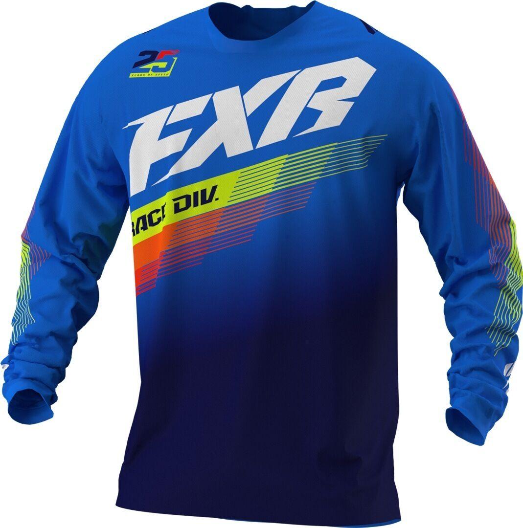 FXR Clutch MX Gear Maillot de motocross de la jeunesse Blanc Bleu taille : XL