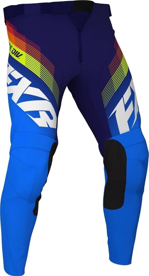 FXR Clutch MX Gear Pantalon motocross pour les jeunes Blanc Bleu taille : XL