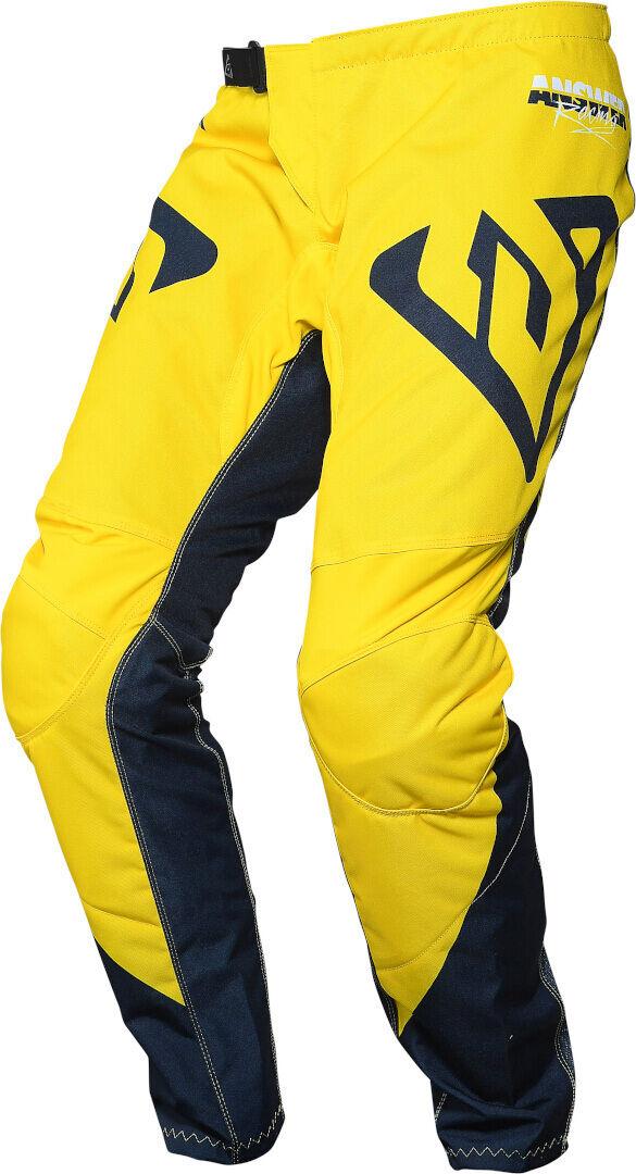 Answer Racing Answer Syncron Pro Glow Pantalon motocross pour les jeunes Bleu Jaune taille : 26