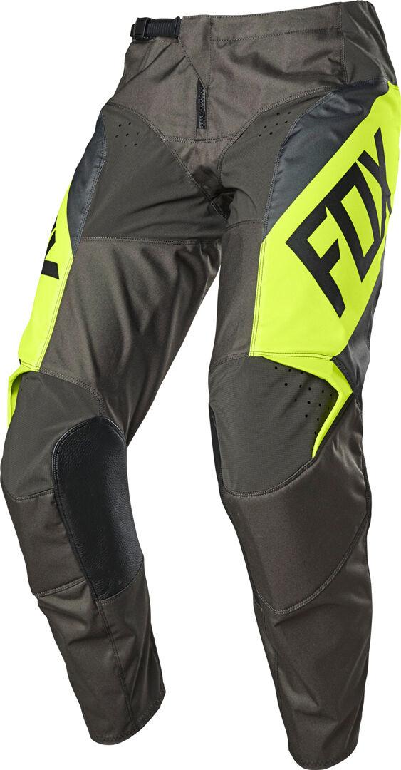 Fox 180 REVN Pantalon motocross pour les jeunes Gris Jaune taille : 26