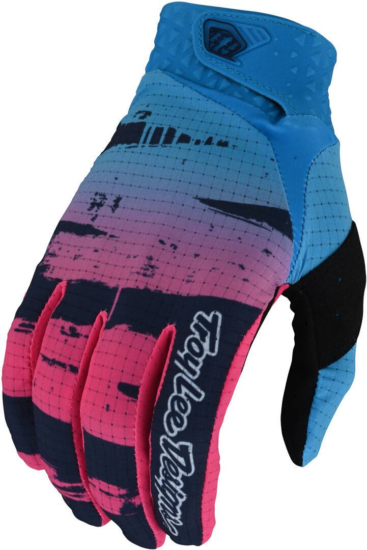 Troy Lee Designs One & Done Air Brushed Gants motocross pour les jeunes Rose Bleu taille : S