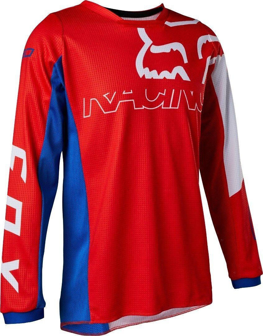 FOX 180 Skew Maillot de motocross pour les jeunes Blanc Rouge Bleu taille : XL